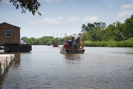 bayou swamp: A swamp boat tour of the Bayous outside of New Orleans in Louisiana USA