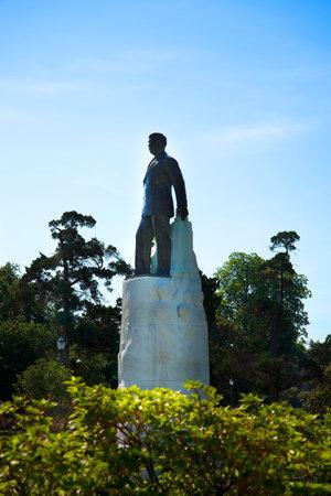 Statue of Senator Huey Long at the Louisiana State Capital Building in Baton Rouge Louisiana, USA Editorial