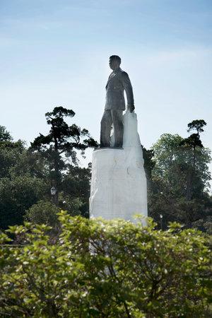 senator: Statue of Senator Huey Long at the Louisiana State Capital Building in Baton Rouge Louisiana, USA Editorial