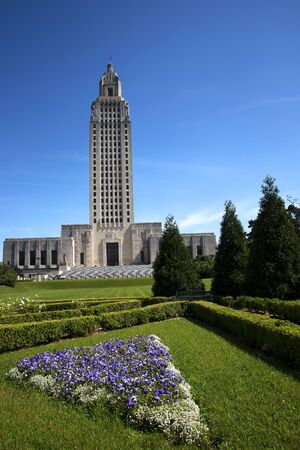 legislature: Louisiana State Capital Building in Baton Rouge Louisiana, USA