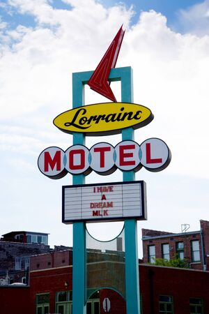 non violence: Lorraine Motel in Memphis Tennessee where Martin L. King  Jnr  was assassinated Editorial