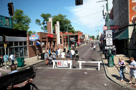 Lively Beale Street in Memphis Tennessee