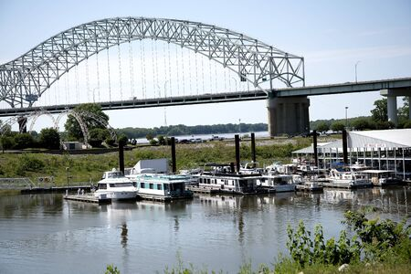 nicknamed: Bridge nicknamed the Dolly Parton because of its shape at the Tennessee State Welcome Centre in Memphis USA