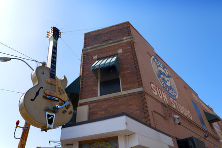 Sun Record Studio opened by rock-and-roll pioneer Sam Phillips in Memphis Tennessee USA