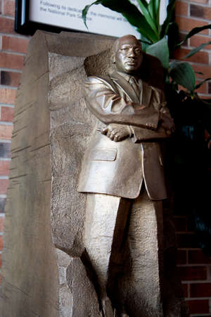 opy of Statue in washington DC of Dr Martin Luther King Jr in Atlanta Georgia