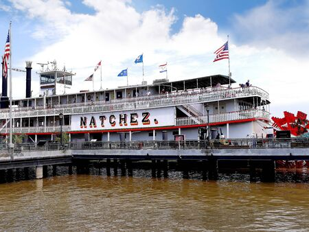 The Paddle Steamer Natchez in New Orleans Louisiana USA
