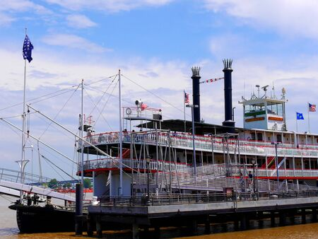 creole: The Paddle Wheeler Creole Queen in New Orleans Louisiana USA Editorial