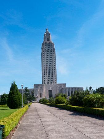 Louisiana State Capital Building in Baton Rouge Louisiana, USA