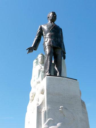 Statue of Huey Long in Baton Rouge Louisiana USA Editorial