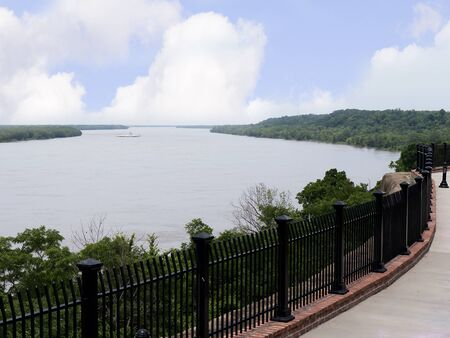 Natchez under the Hill by the mighty Mississippi River 版權商用圖片