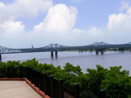 Bridge at Natchez under the Hill by the mighty Mississippi River