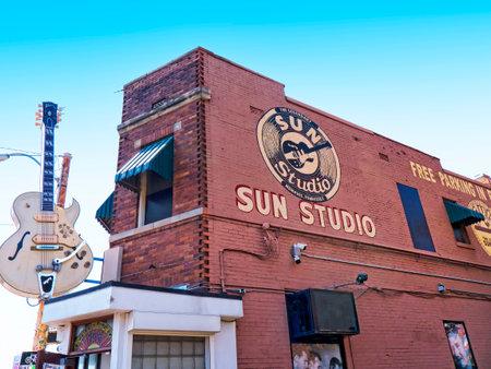 Sun Studios waar Elvis zijn eerste plaat in Memphis Tennessee USA