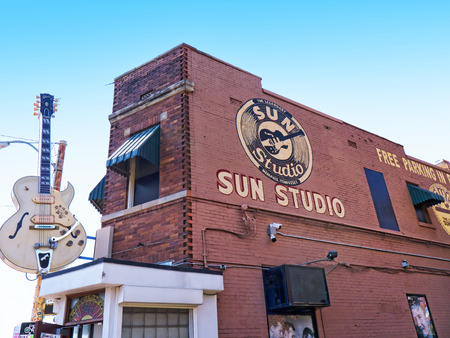 Sun Studios where Elvis recorded  his first record  in Memphis Tennessee USA Stock Photo - 61697243