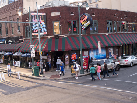 Beale Street in Memphis Tennessee USA