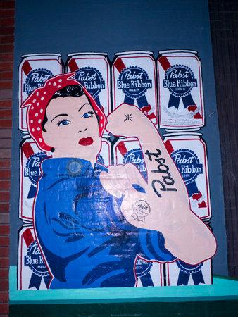 tennesse: Pintura de pared en Memphis Tennessee EE.UU. Editorial