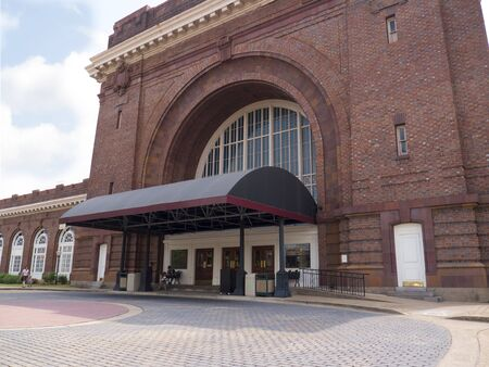 Facade of the Chattanooga Choo Choo Station in Tennessee USA Editorial