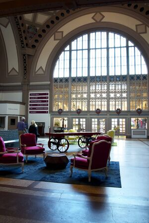 historical periods: Waiting Hall at the Chattanooga Choo Choo Station in Tennessee USA Editorial