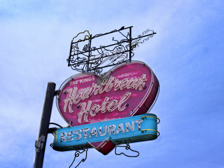 graceland: Heartbreak Hotel Sign at Graceland Memphis Tennessee USA