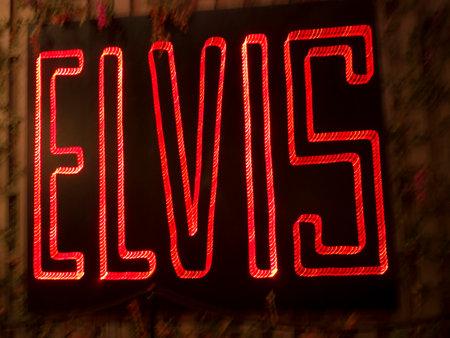 Neon Sign Elvis 'in de collectie in Memphis Tennessee USA