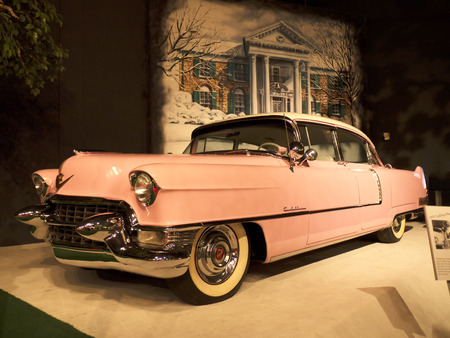 Elviss Pink Cadillac in collection in Memphis Tennessee USA Editorial