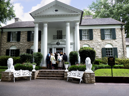 Graceland the Home of Elvis Presley in Memphis Tennessee USA