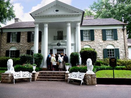 elvis presley: Graceland the Home of Elvis Presley in Memphis Tennessee USA