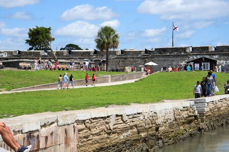 augustine: Castillo of San Marco at St Augustine the oldest town in the USA in Florida,USA