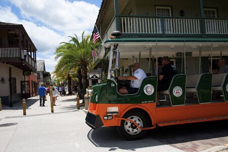 Town Tourist Trolley in St Augustine Florida
