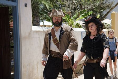 augustine: Pirate Re-enactment at St Augustine the oldest town in the USA in Florida, North America Editorial
