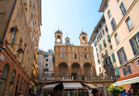 Loggia de Banchi in Genoa Italy