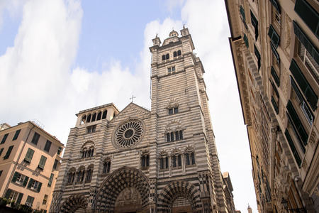 lorenzo: The Cathedral of San Lorenzo in Genoa Italy