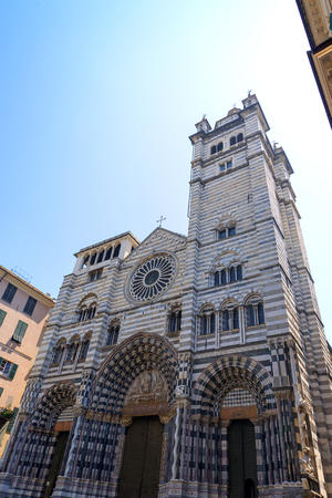 architecture monumental: The Cathedral of San Lorenzo in Genoa Italy