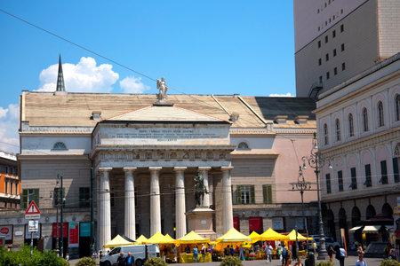felice: The Opera House of Genoa Italy. The Teatro Carlos Felice Editorial
