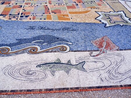 augustine: Mosaic at the Visitor Centre at St Augustine Florida