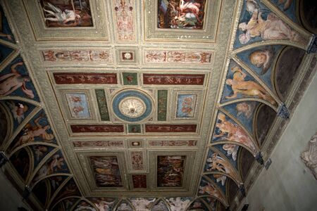 palazzo: Decorated Ceiling in Palazzo in Genoa Italy