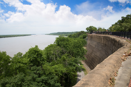 The Mighty Mississippi at the Bluffs of Natchez in the USA