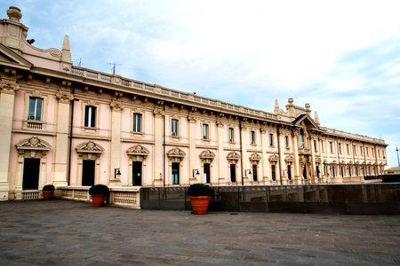 dockside: Dockside Buildings on the Quay in Genoa Italy