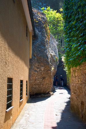 The walk up to the Castello Brown in Portofino Italy