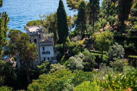 The Garden of the Castello Brown in Portofino Italy