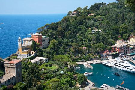 The Delightful Harbour at Portofino on the Italian Riviera in Liguria Italy