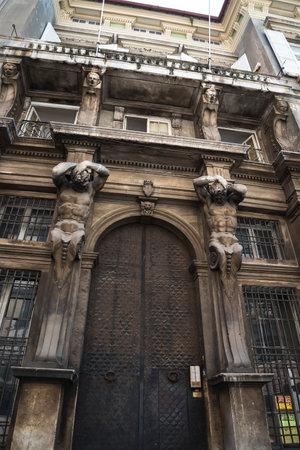 imposing: Imposing doorway in Genoa Italy