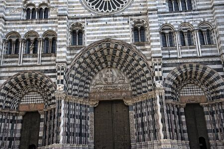the Cathedral of San Lorenzo in Genoa Italy