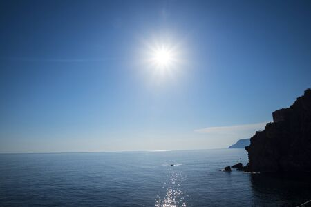 The Coast of the Cinque Terra or Five Lands in Liguria Italy