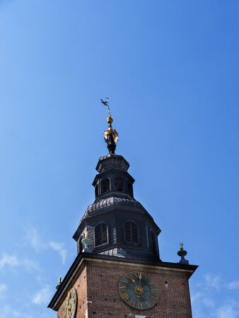 the Tower of the old Town Hall in the Market Square in Krakow Poland
