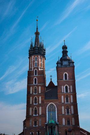 Church of Mariacki or St Marys Church in Krakow Poland Editorial
