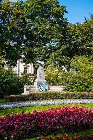 krakow: Planty Park in Krakow Poland
