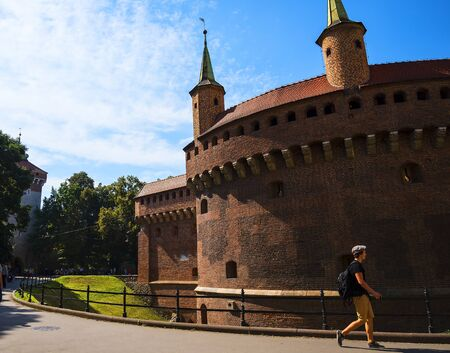 The Barbican by the Florian Gate in Krakow Poland Editorial