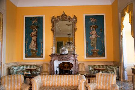 marqueteria: Beautiful interior in Sorrento italy Editorial