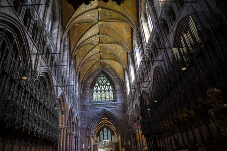The Cathedral or Minster in Chester England.In 689, King Æthelred of Mercia founded the Minster Church of West Mercia, which later became Chester`s first cathedral