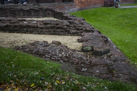 Roman Walls surround the city of Chester in England Stock Photo